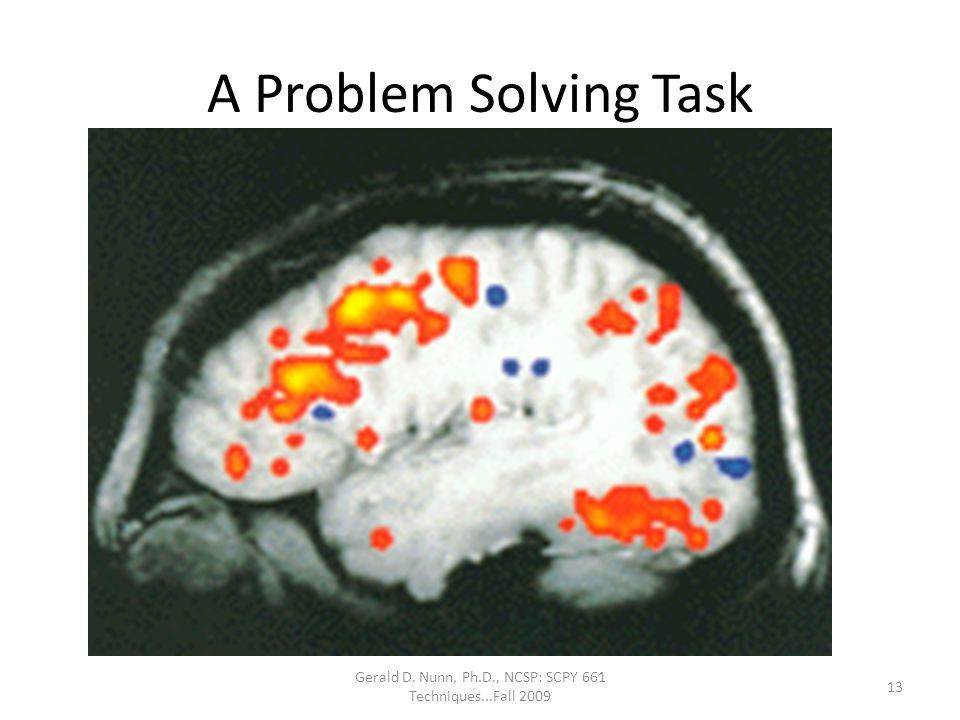 Gerald D. Nunn, Ph.D., NCSP: SCPY 661 Techniques...Fall 2009 A Problem Solving Task 13