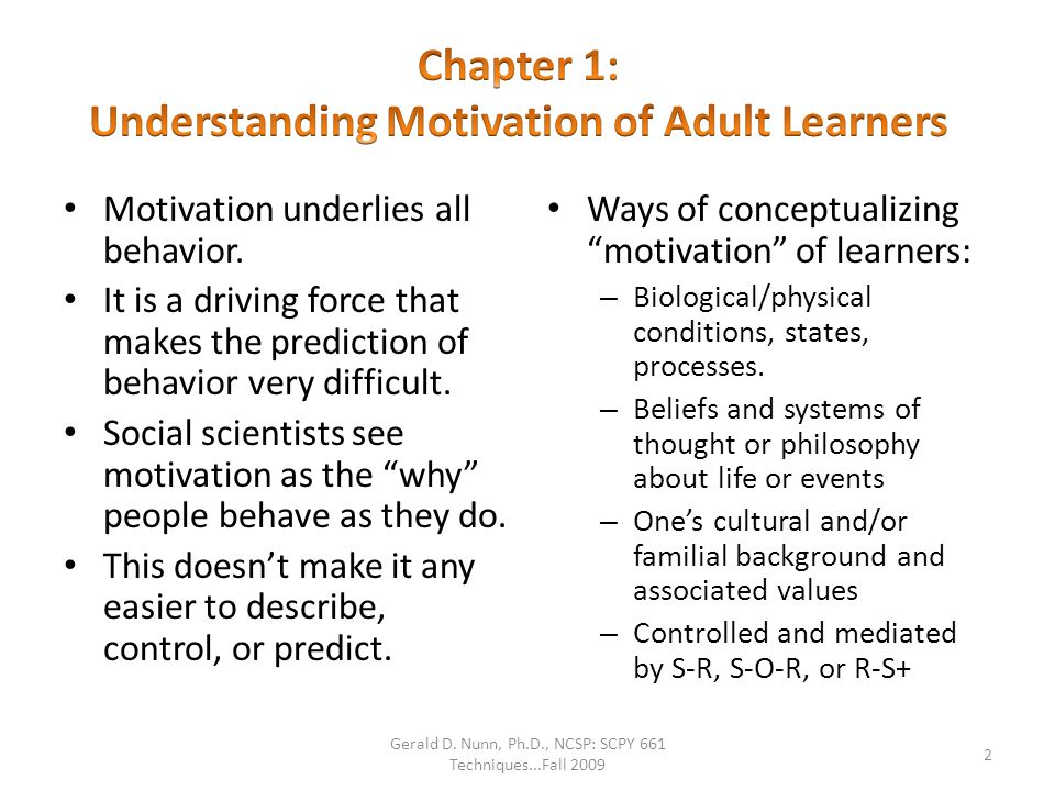 Facilitative Debilitative Adult Learner Motives A Lot Some None Skills, Knowledge, Dispositions Acquired Performance Engagement Attitudes How Learners are Affected in Classrooms.