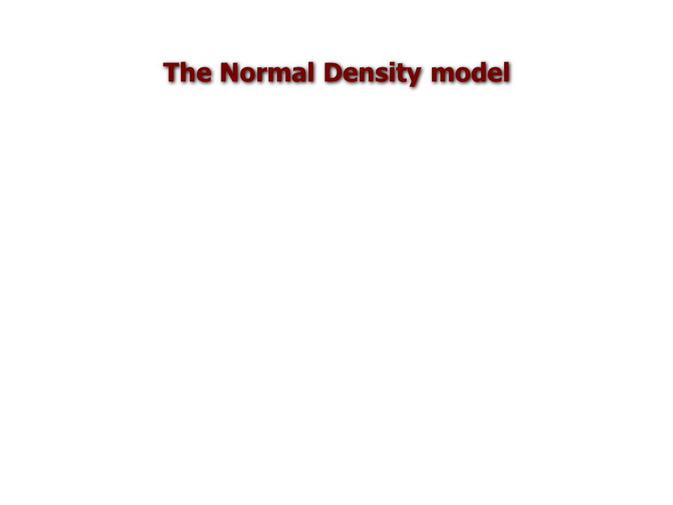 The Normal Density model