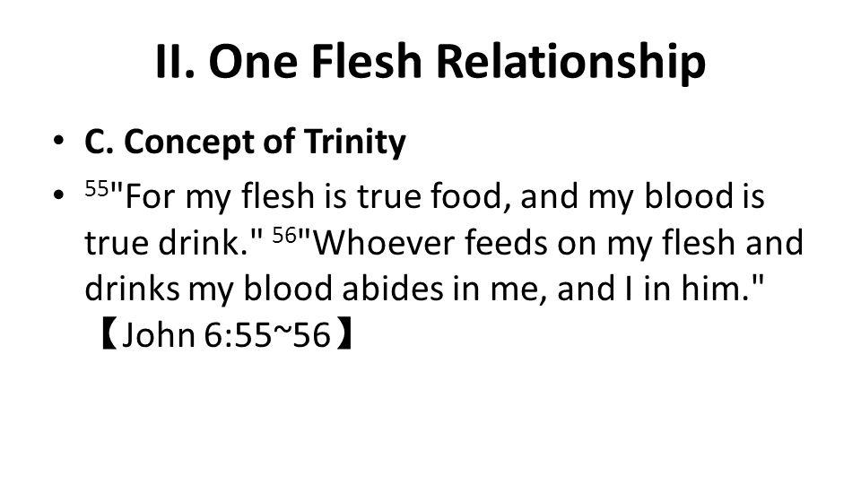 II. One Flesh Relationship C.