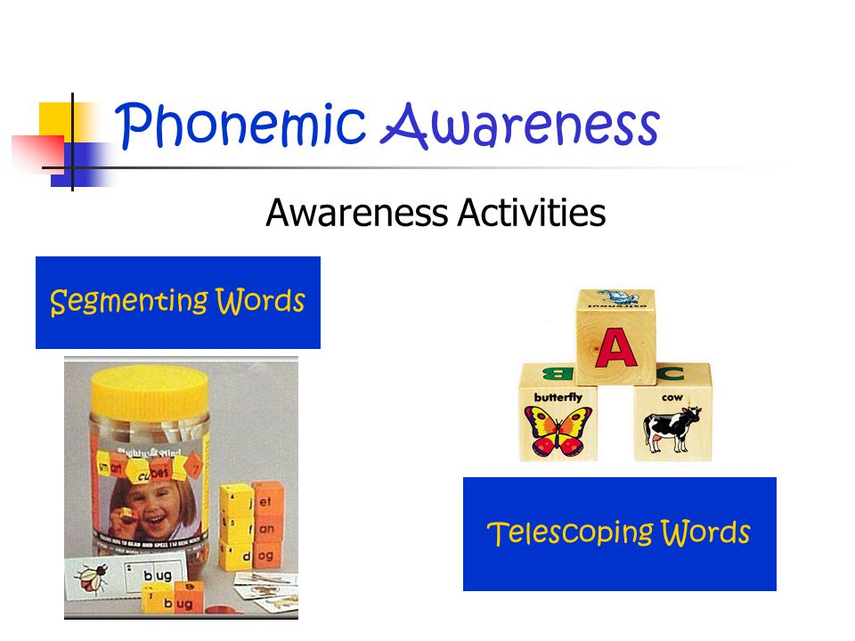 Phonemic Awareness Awareness Activities Segmenting Words Telescoping Words