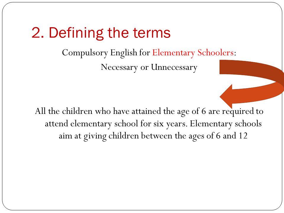 Compulsory English for elementary schoolers Necessary