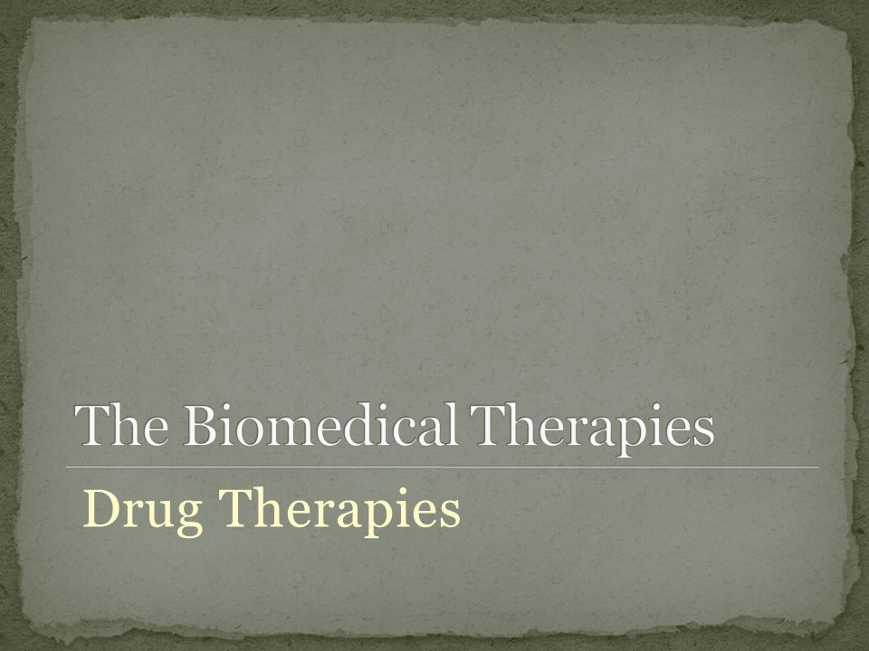 Drug Therapies
