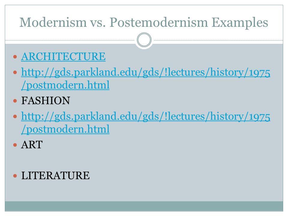 Modernism vs.