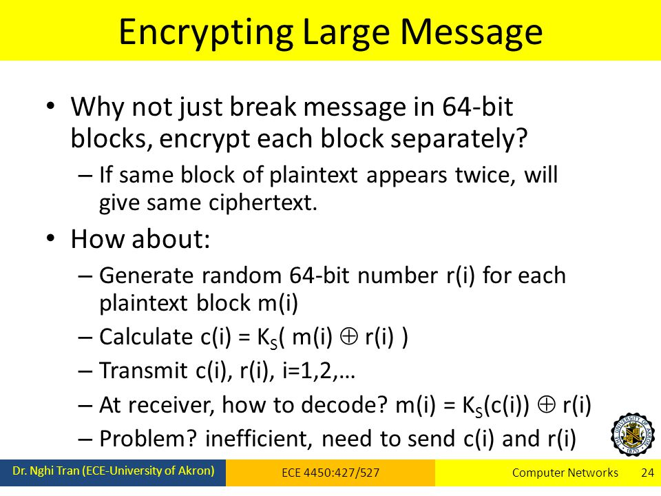Encrypting Large Message Dr.
