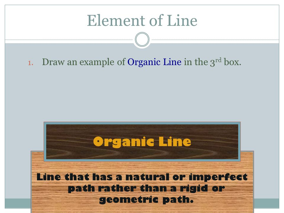 Line that has a natural or imperfect path rather than a rigid or geometric path.
