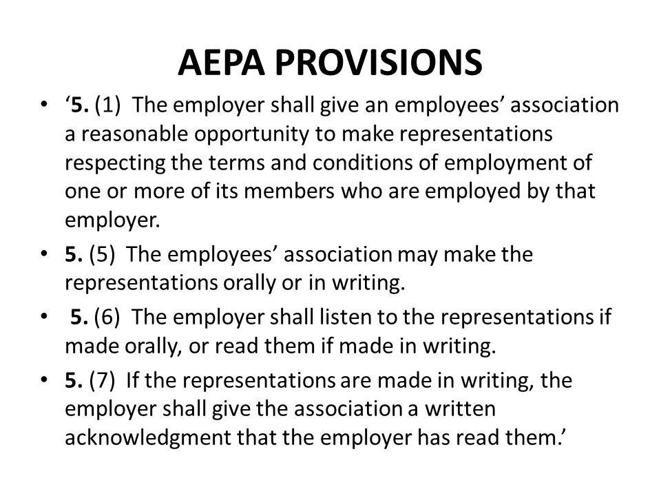 AEPA PROVISIONS '5.