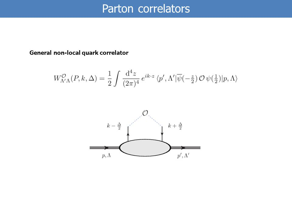 Parton correlators General non-local quark correlator
