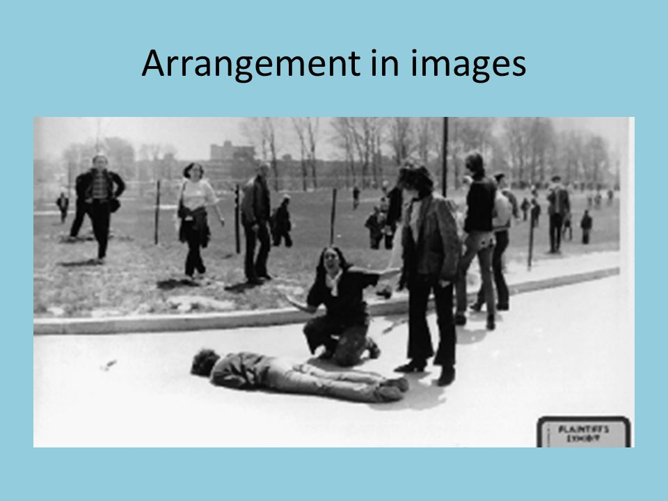 Arrangement in images