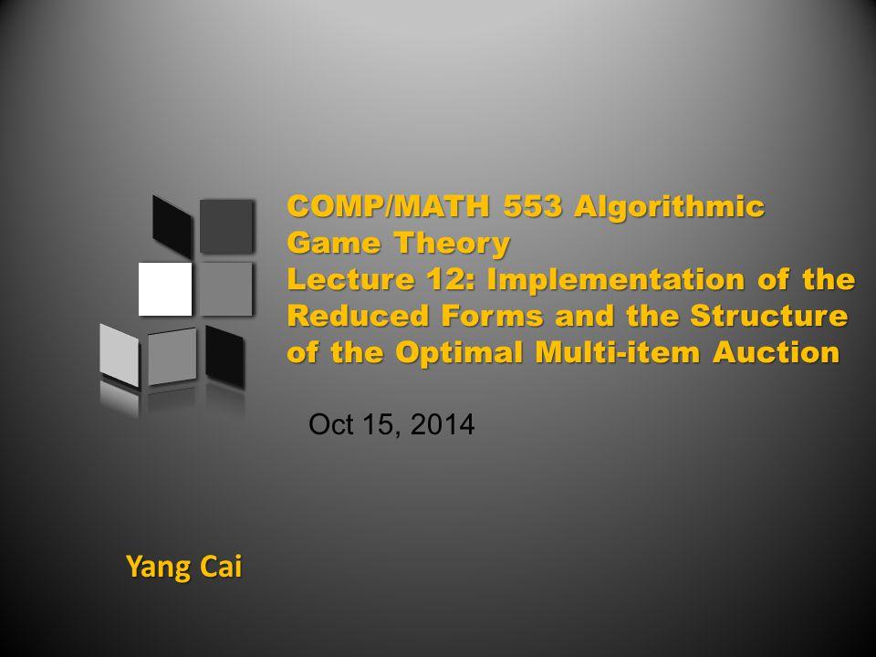 Yang Cai Oct 15, 2014