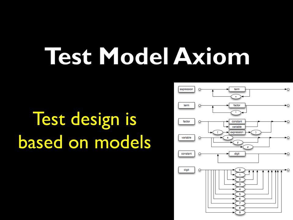 Test design is based on models