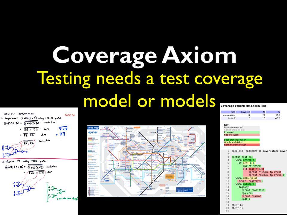 Testing needs a test coverage model or models
