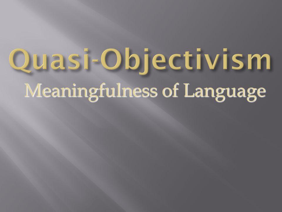 Meaningfulness of Language