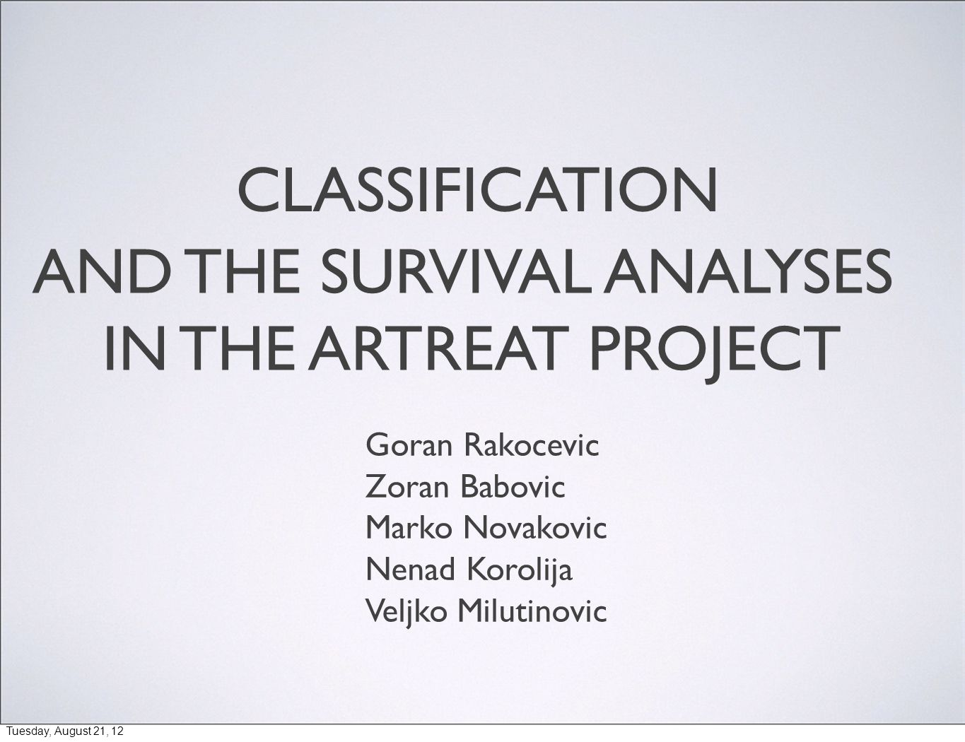 2/9 THE ARTREAT PROJECT ARTreat targets at providing a computational model of the cardiovascular system, to improve prediction for the atherosclerosis progression and propagation into life-threatening events.
