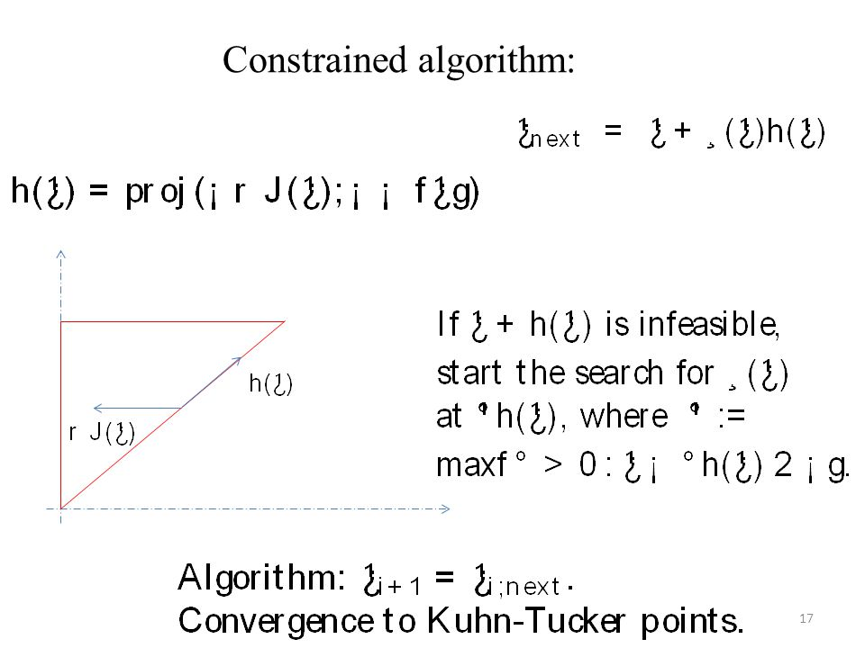 Constrained algorithm: 17