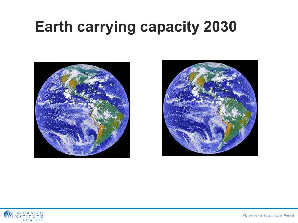 Det fundamentale problem 2030 Earth carrying capacity 2030