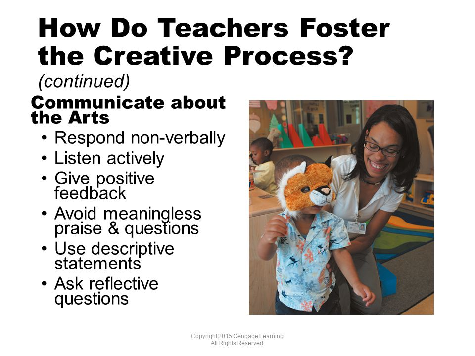 How Do Teachers Foster the Creative Process.