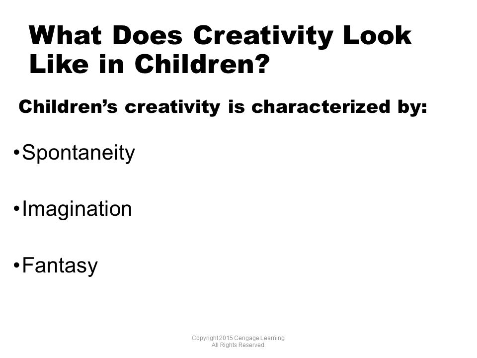 What Does Creativity Look Like in Children.