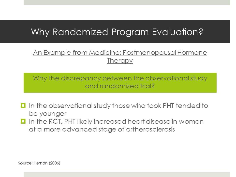 Why Randomized Program Evaluation.