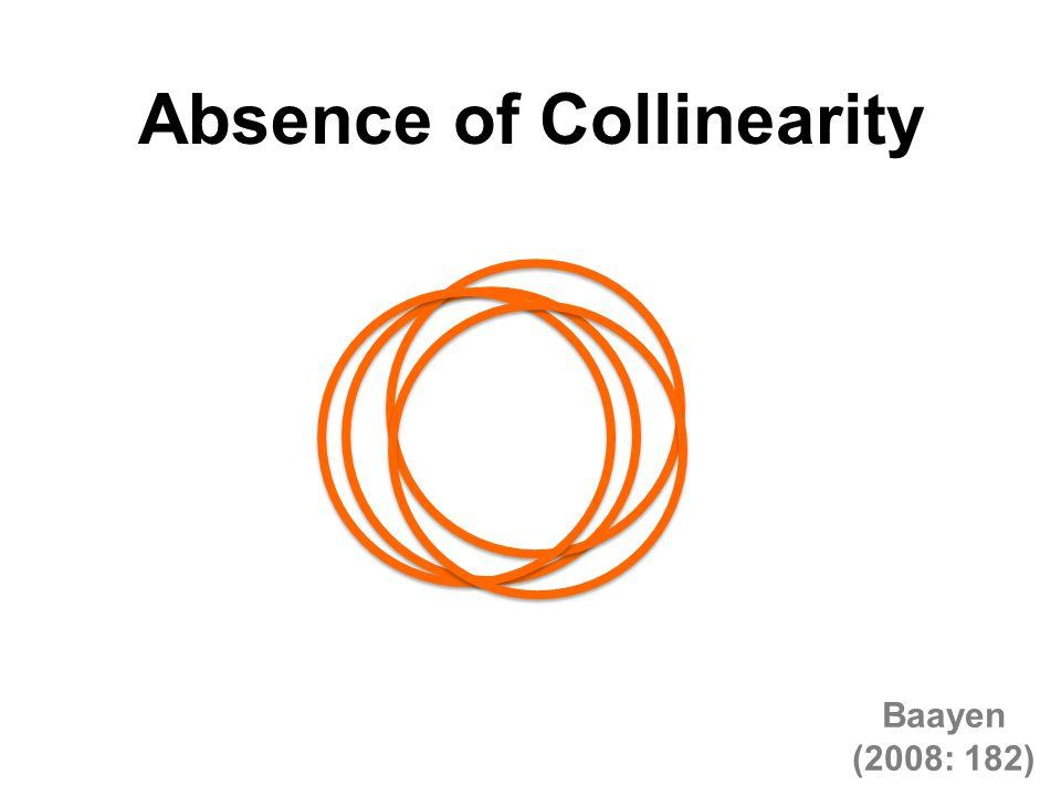 Absence of Collinearity Baayen (2008: 182)
