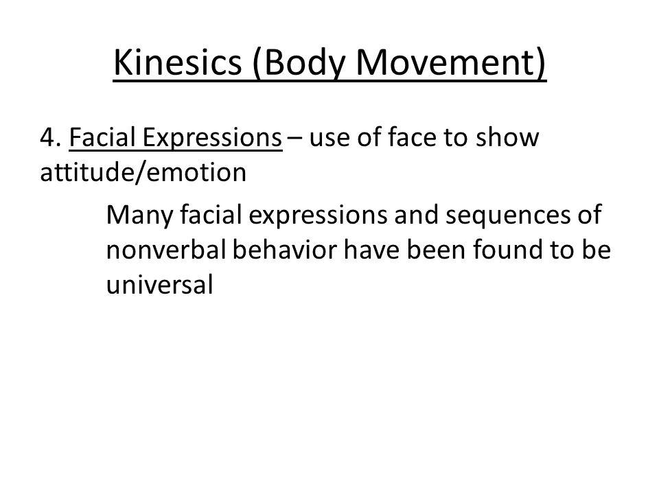 Kinesics (Body Movement) 4.