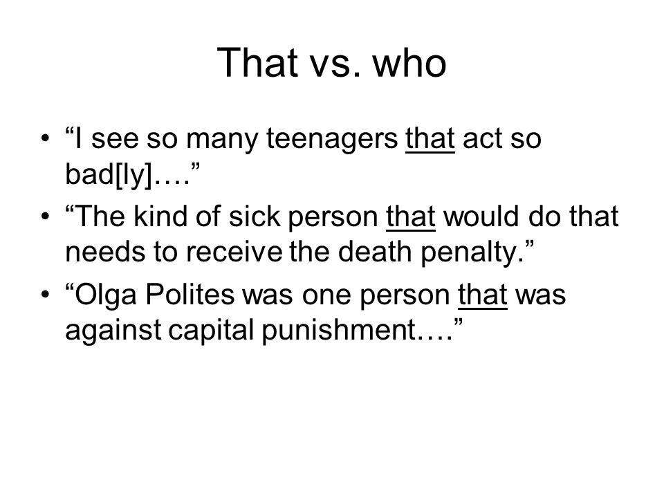 That vs.