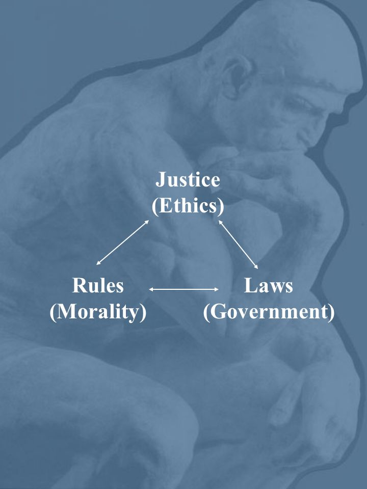 Justice (Ethics) Rules (Morality) Laws (Government)