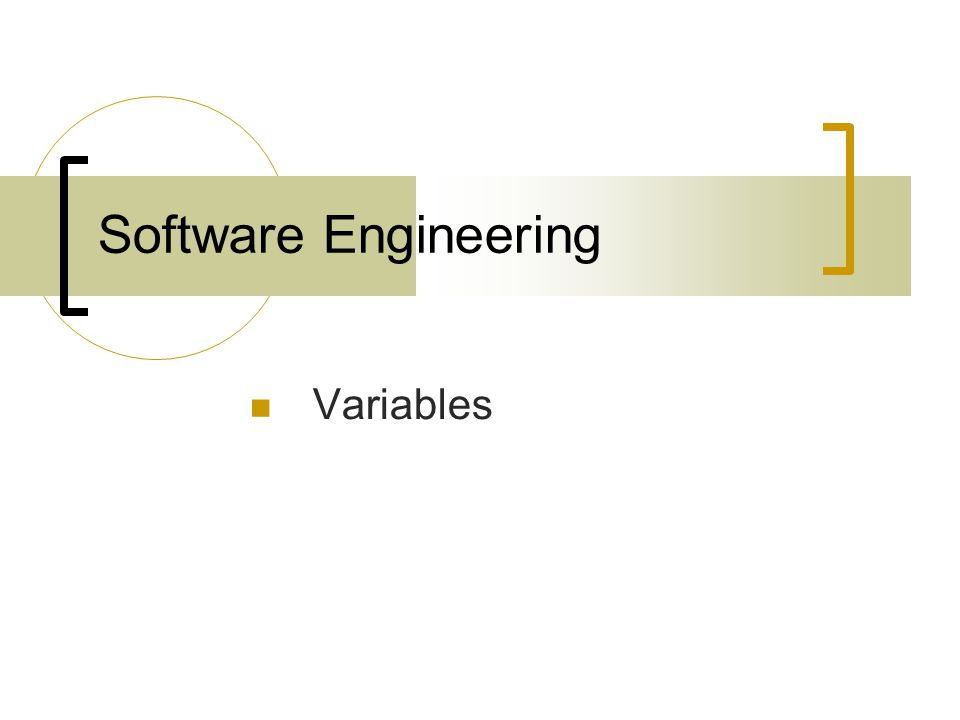 Software Engineering Variables