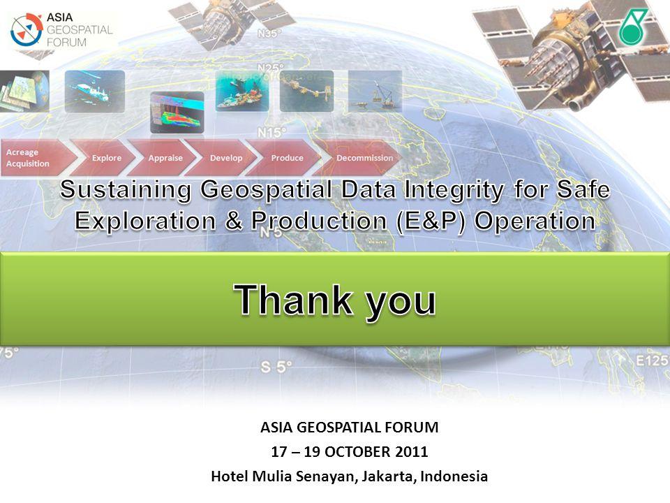ASIA GEOSPATIAL FORUM 17 – 19 OCTOBER 2011 Hotel Mulia Senayan, Jakarta, Indonesia