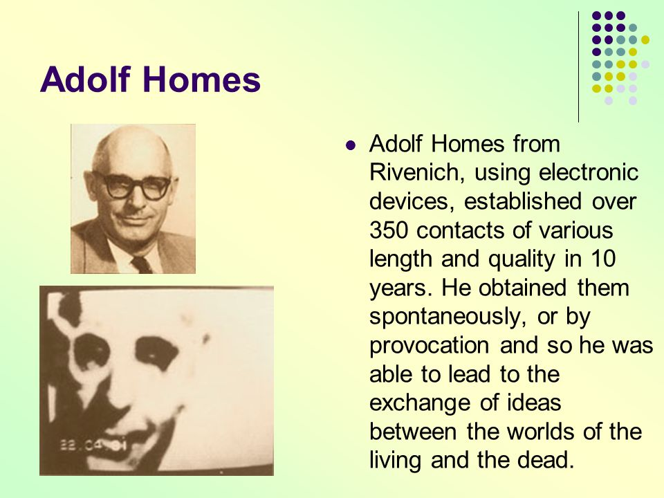 Adolf Homes Adolf Homes from Rivenich, using electronic devices, established over 350 contacts of various length and quality in 10 years. He obtained