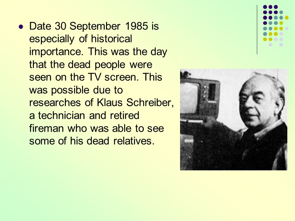Date 30 September 1985 is especially of historical importance.