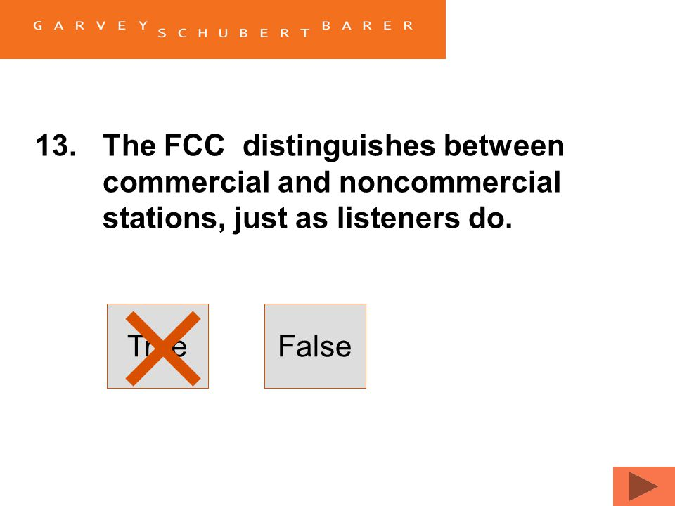 12.The FCC exempts bona fide news events and documentaries from its indecency policy. FALSE. Indecency law recognizes the importance of context, but g