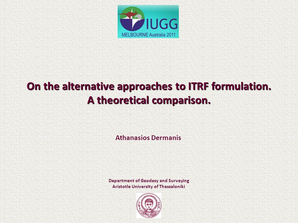 On the alternative approaches to ITRF formulation.