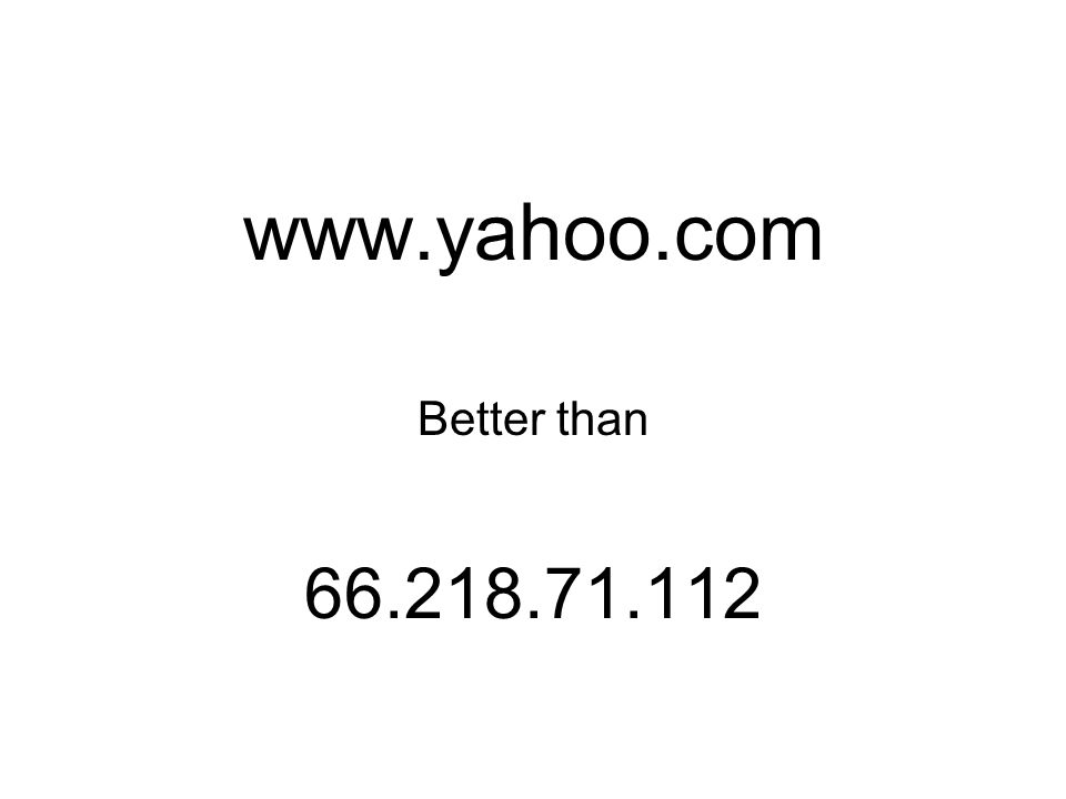 www.yahoo.com Better than 66.218.71.112