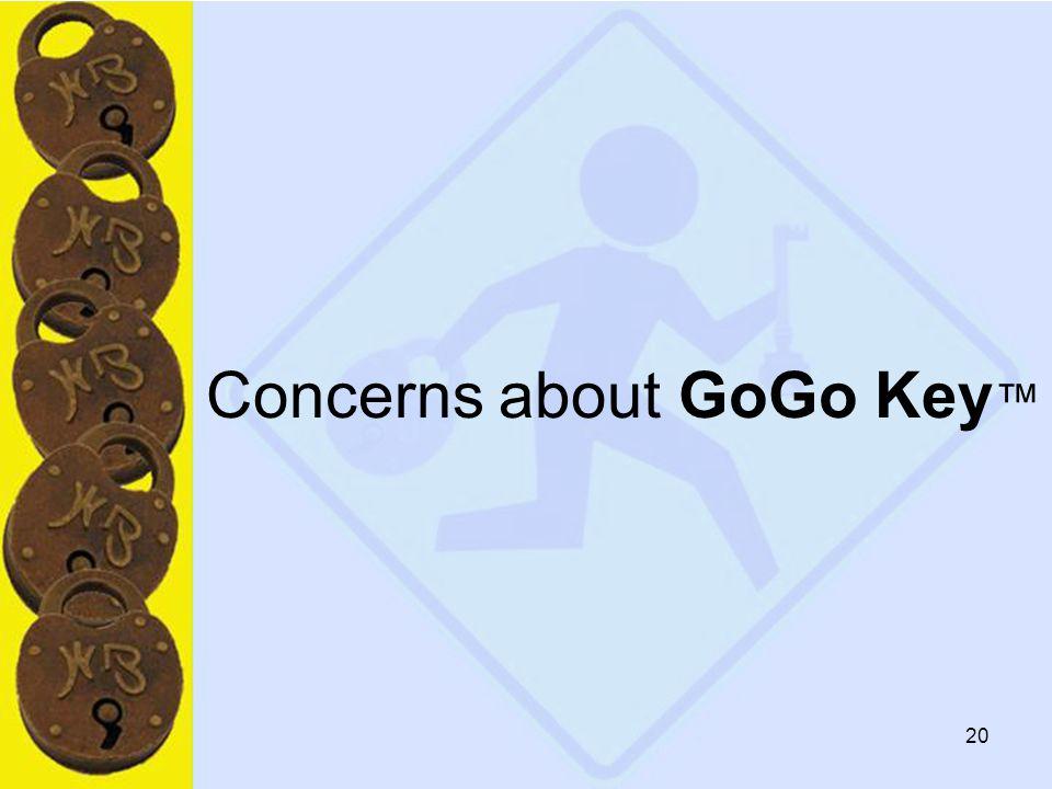 20 Concerns about GoGo Key ™