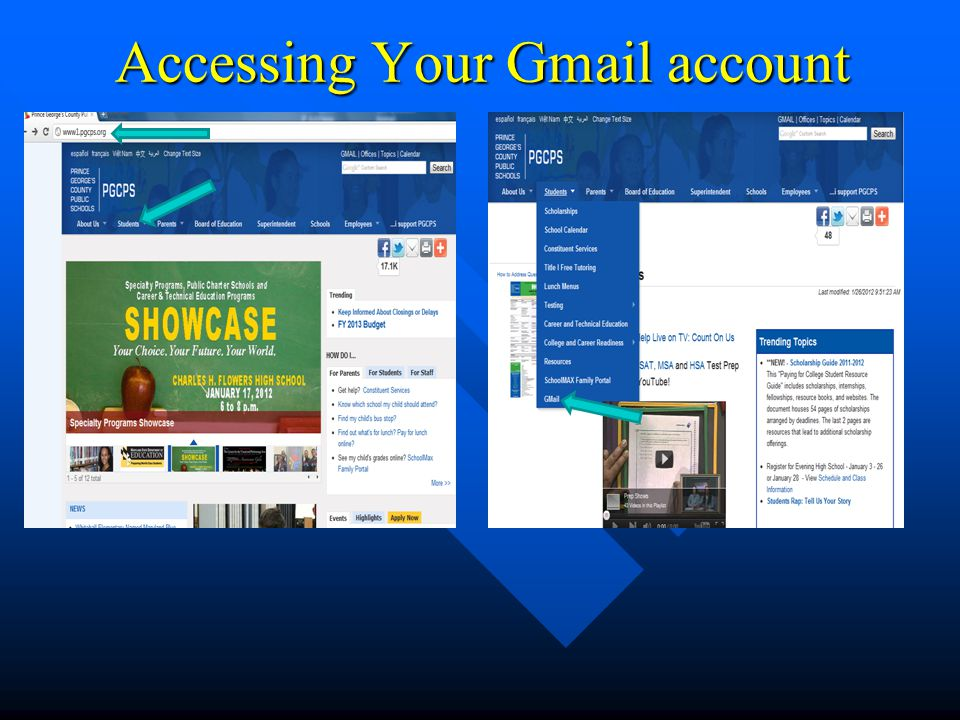Accessing Your Gmail account