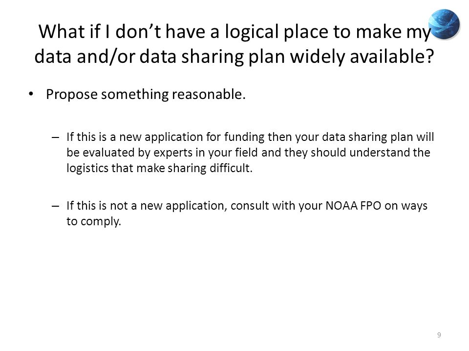 What if I don't have a logical place to make my data and/or data sharing plan widely available.