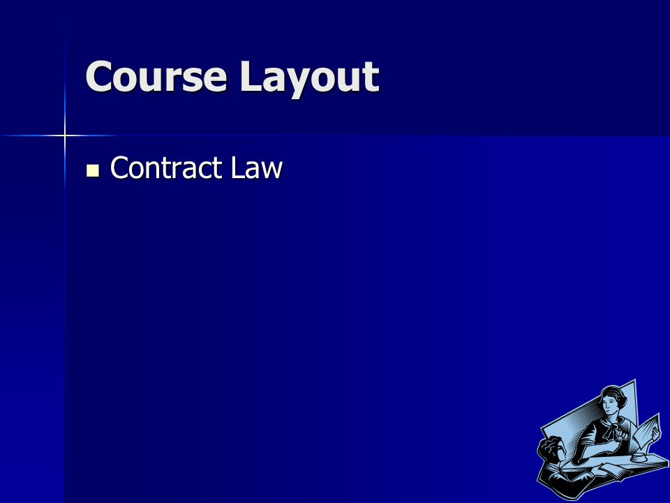 Course Layout Contract Law Contract Law