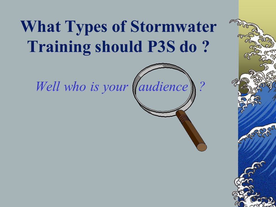 Stormwater Training.