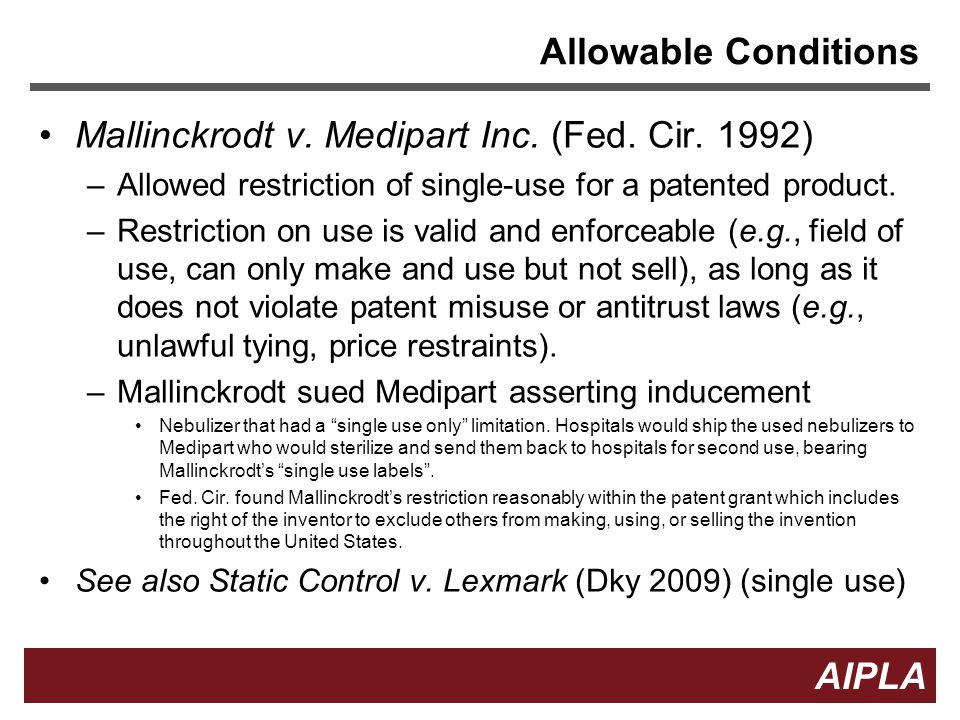 11 AIPLA Firm Logo Allowable Conditions Mallinckrodt v.