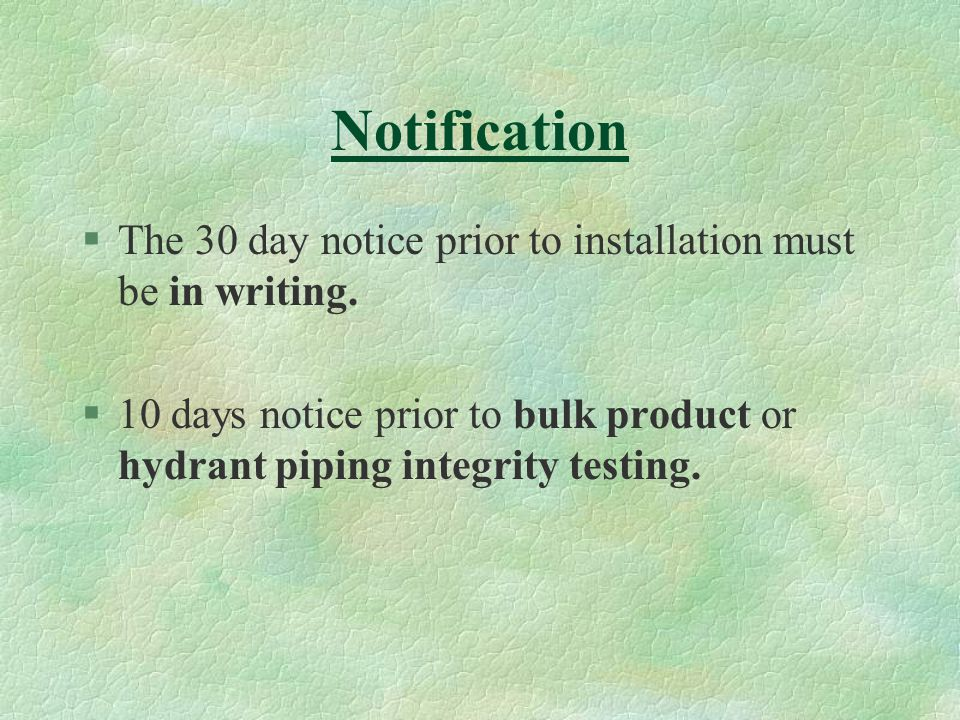 Construction All new piping not in contact with the soil shall be UV rated if exposed to sunlight and if made of non-metallic materials.