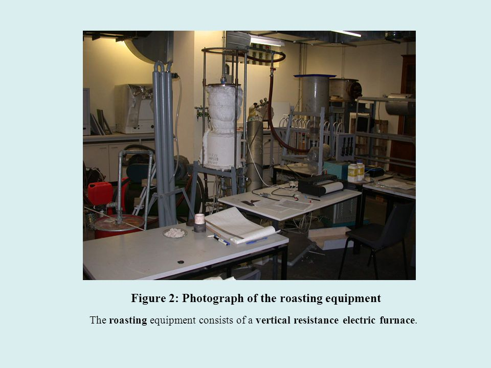 Figure 2: Photograph of the roasting equipment The roasting equipment consists of a vertical resistance electric furnace.