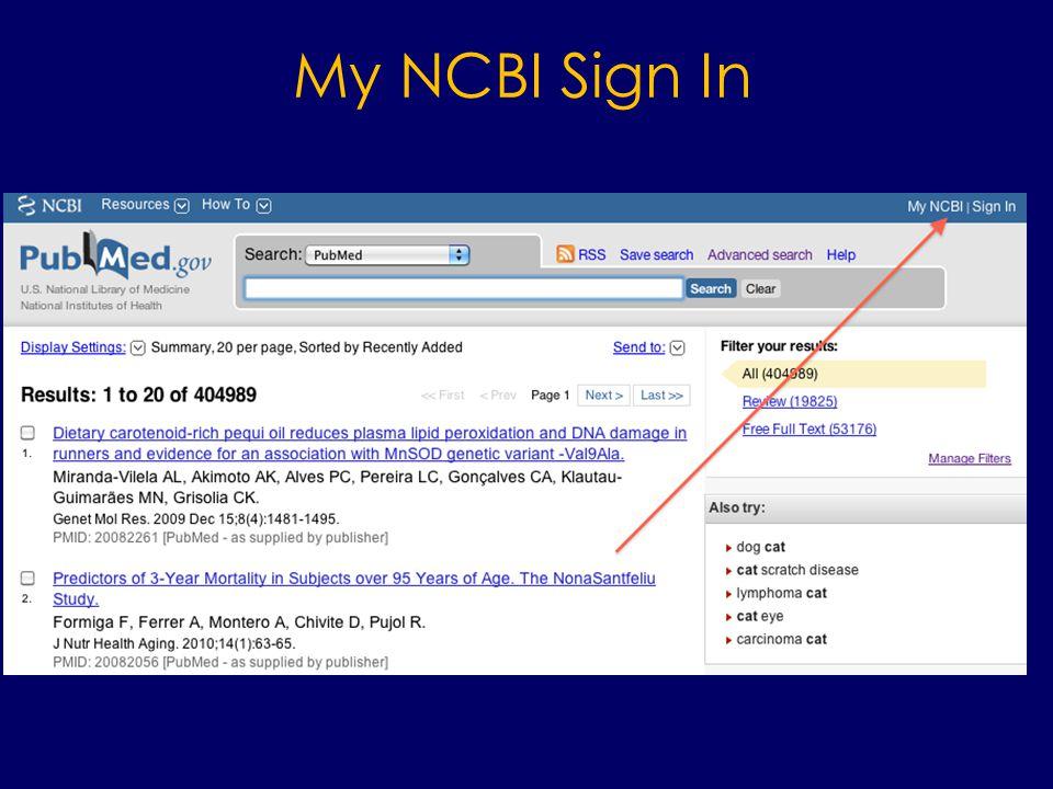 My NCBI Sign In
