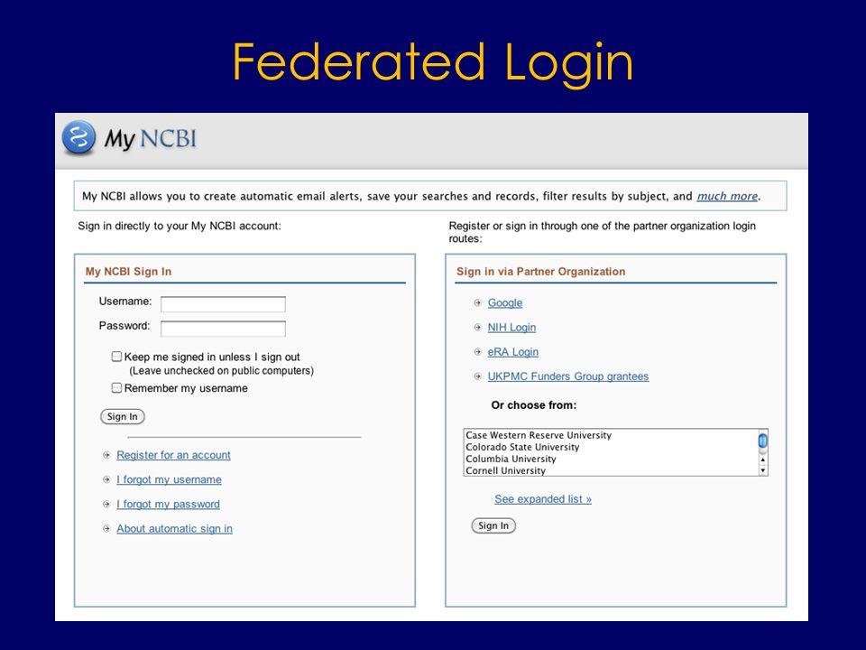Federated Login