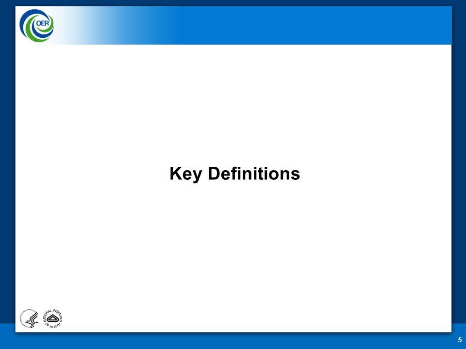 Key Definitions 5