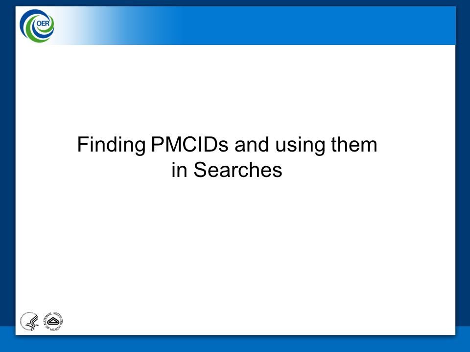 Finding PMCIDs and using them in Searches