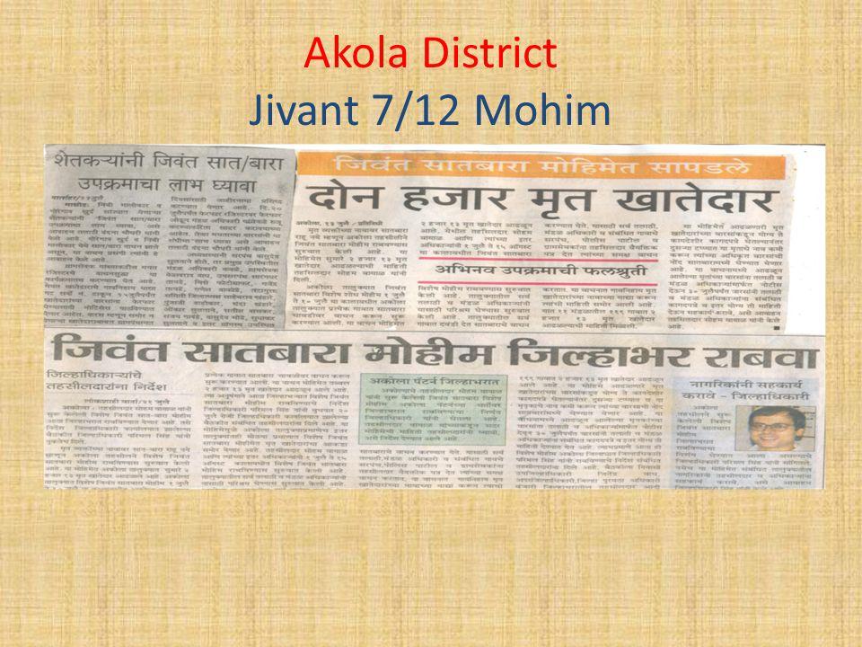 Akola District Jivant 7/12 Mohim