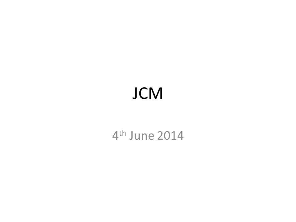 JCM 4 th June 2014