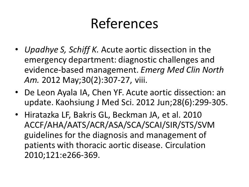 References Upadhye S, Schiff K.