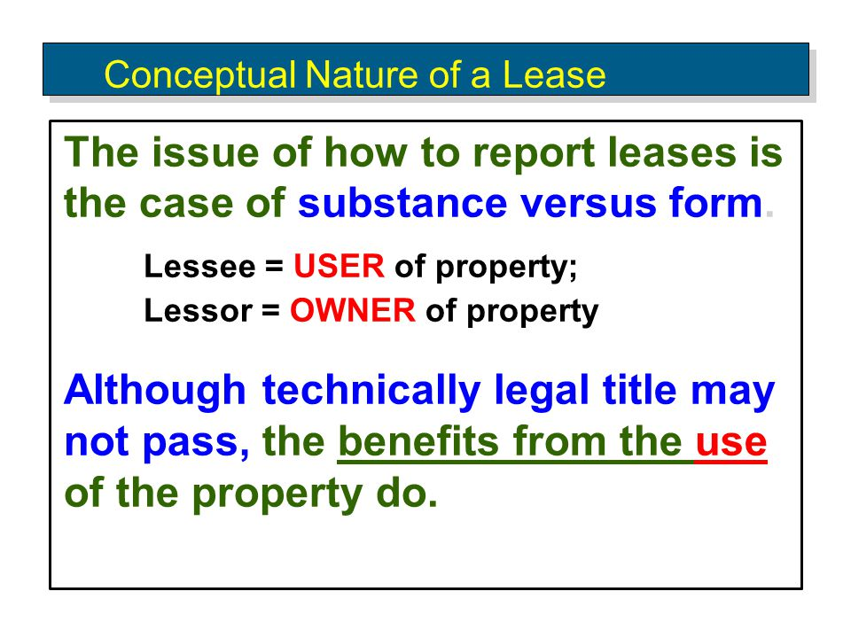 Lessor's Initial Direct Costs For Capital Leases, the method of accounting for initial Direct Costs depends on the nature of the lease: Direct Financing Leases − Include as part of investment balance.